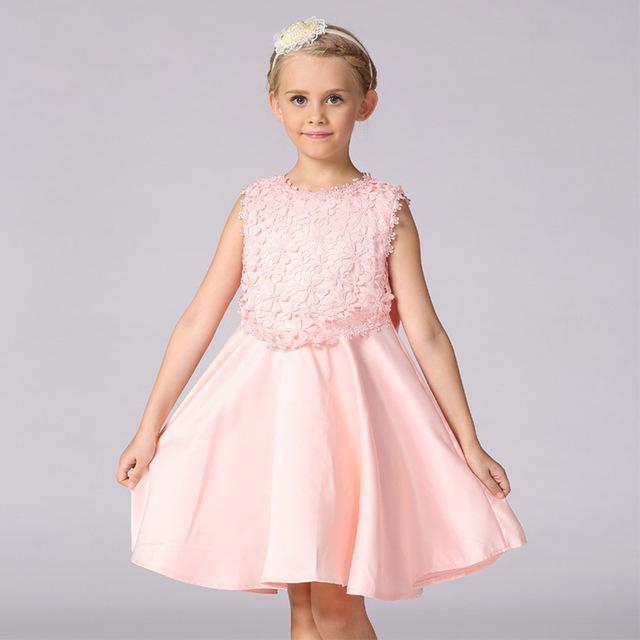 تصميم فستان أطفال سهرة بسيط