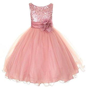 تصميم فستان أطفال سهرة قصير