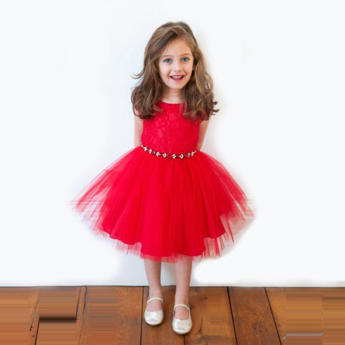 تصميم فستان أطفال سهرة قصير شيك جداً