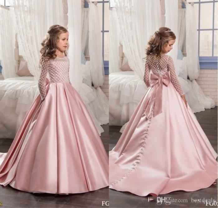تصميم فستان أطفال سهرة حلو جداً وجميل