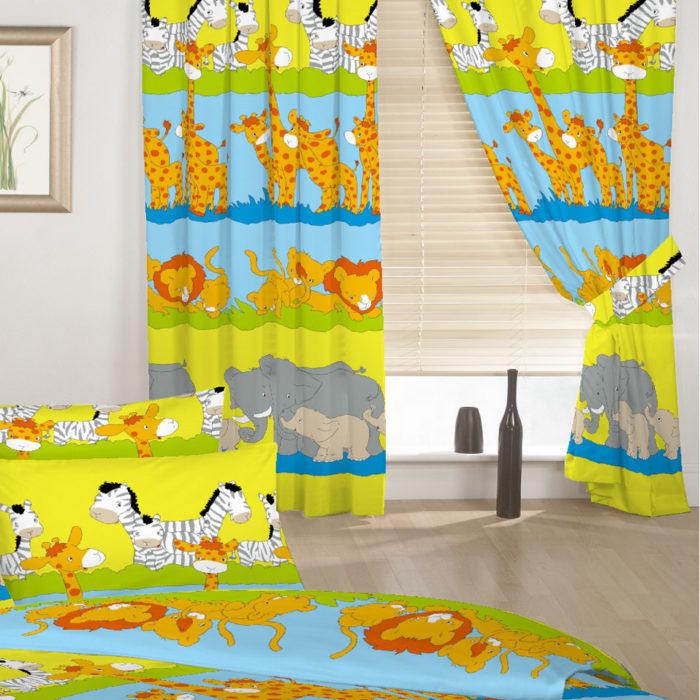 ستارة باللون الاصفر الزاهي المناسب لغرف نوم الاطفال