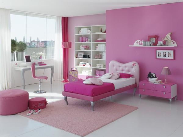 غرفة نوم باللون البينك عصرية جداً وشيك تناسب البنوتات