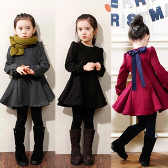 فستان أطفال شتوي حلو جداً وجديد