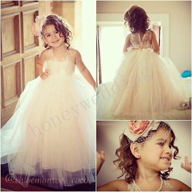 فستان أفراح للبنات الصغار حلو جداً وشيك
