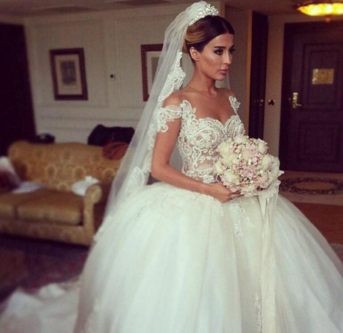 فستان زفاف تركي فى منتهى االجمال