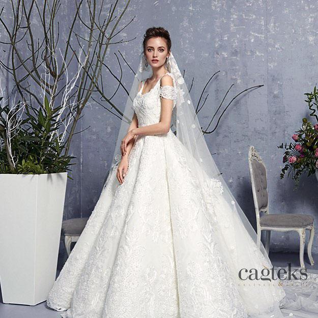 فساتين زفاف تركي بتصميم في منتهى الشياكة