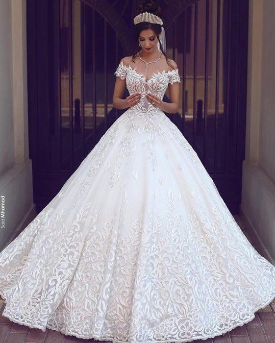 فستان زفاف فى منتهى الجمال