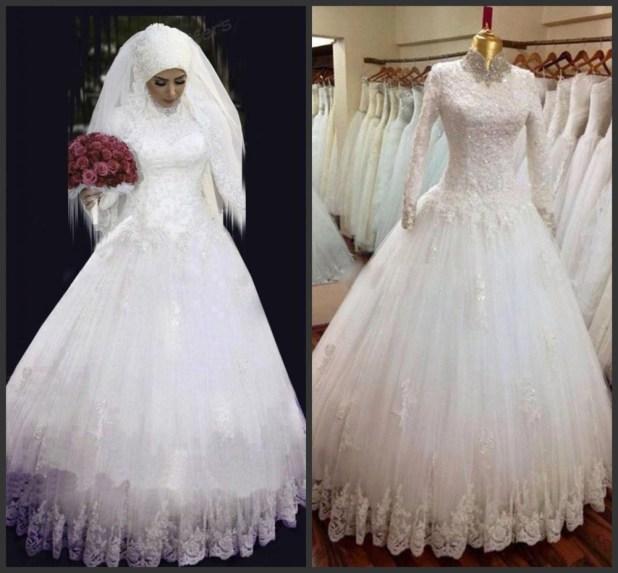 فستان حلو جداً بقماشة الدانتيل مع لفة طرحة جميلة جداً