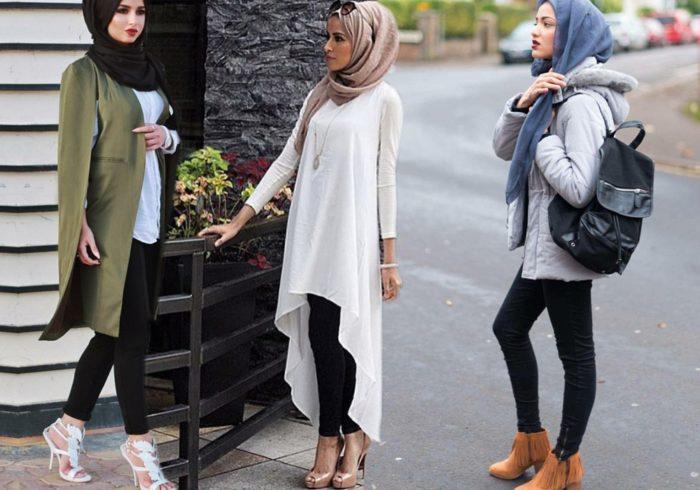ملابس محجبات للعيد 2018 , أشيك وأجمل موديلات ملابس المحجبات