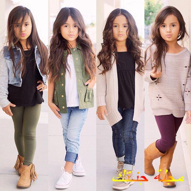 تصاميم متنوعة لملابس البنات الصغار