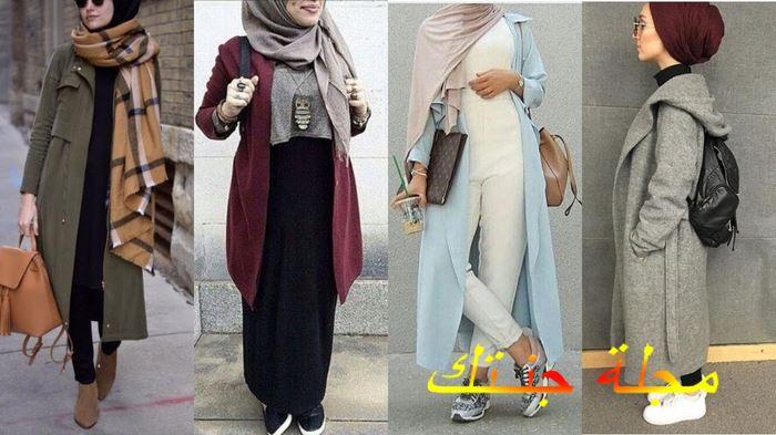 تصميمات رائعة وجديدة لملابس المحجبات