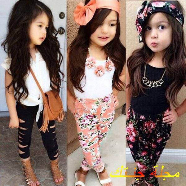 تصيمات مختلفة من ملابس الاطفال البنات