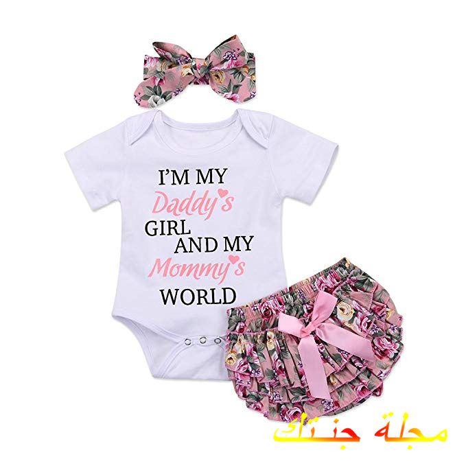 طقم بنتي جميلة جداً لحديثي الولادة