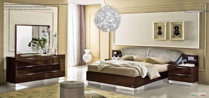 غرفة نوم باللون البني رائعة وتناسب الذوق الهادئ