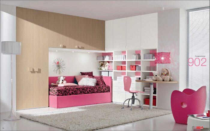 غرفة نوم بتصميم عصري جديد تناسب ذوق البنوتات الصغار
