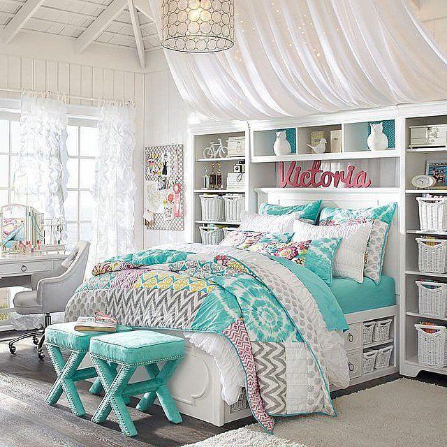 غرفة نوم بتمصميم رائع وجديد مع فكرة الارفق الجانبية والعملية للسرير