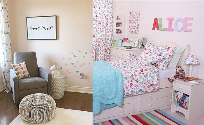 غرفة نوم رائعة جداً وشيك للبنات الصغيرة