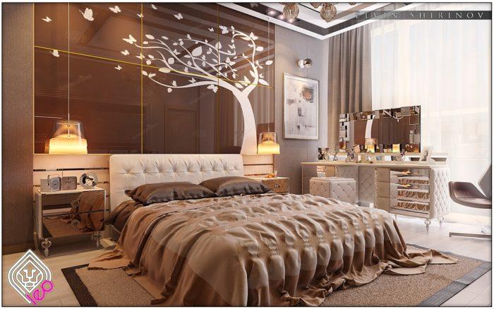 غرفة نوم فخمة جداً وشيك