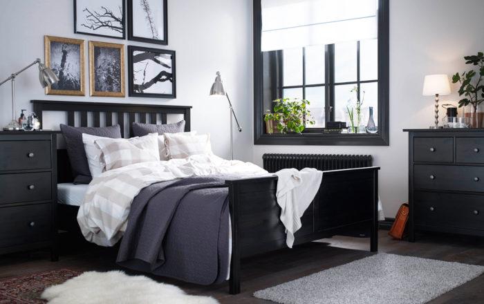 غرفة نوم كاملة باللون الاسود