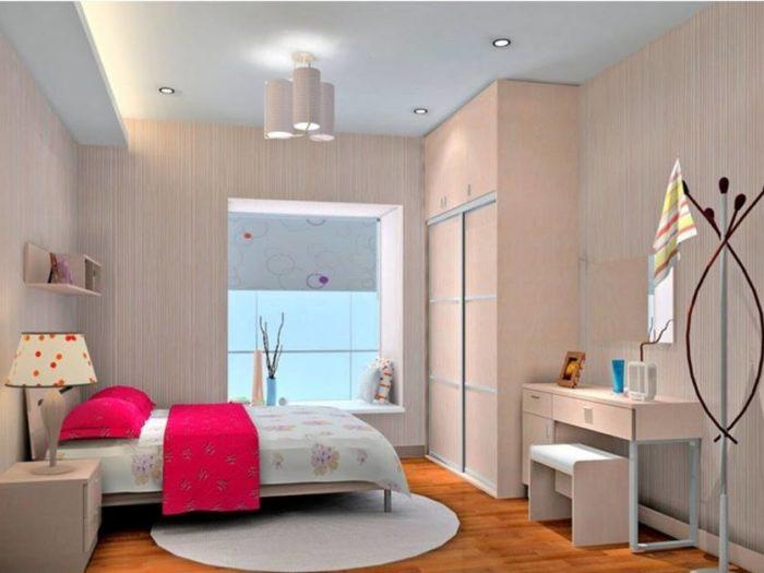 غرفة نوم كاملة بتصميم هادئ وجميل جداً