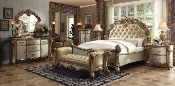 غرفة نوم كلاسيكية فخمة تناسب الذوق الراقي