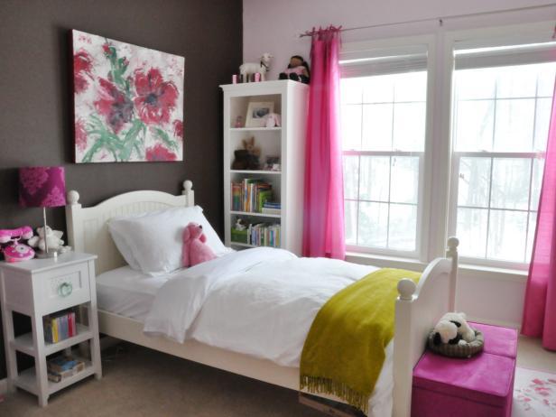 غرفة نوم للبنات بتصميم حلو جداً وجميل