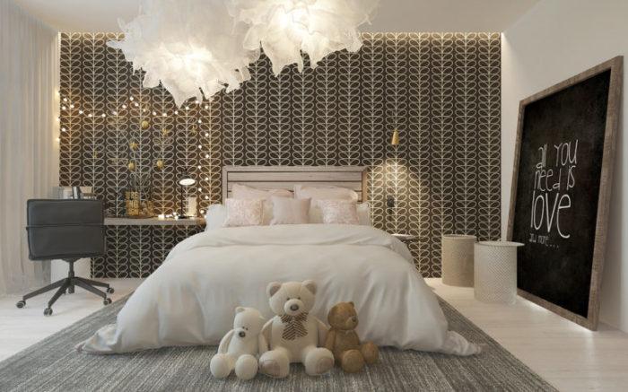 غرفة نوم للبنوتات بتصميم فخم جداً وراقي