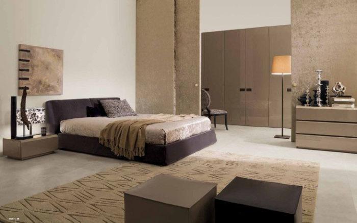 غرفة نوم مودرن بتصميم ناعم وشيك