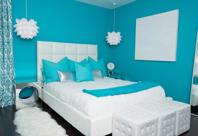 غرفة نوم مودرن جديدة باللون الابيض 2018