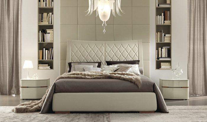 غرفة نوم مودرن رائعة باللون البيج تناسب مختلف الاذواق