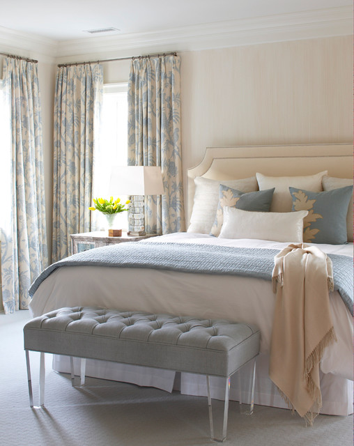 غرفة نوم هادئة وجميلة تناسب الذوق الراقي