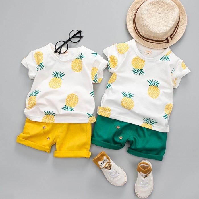 ملابس رضع صيفية للولاد جميلة
