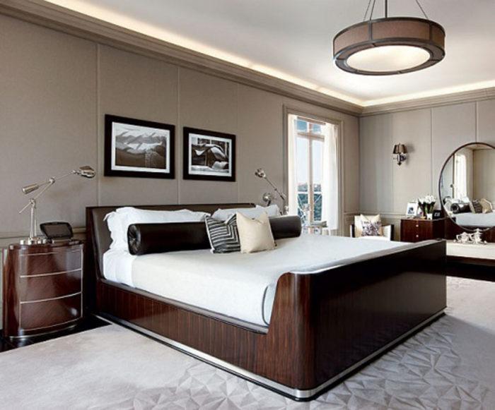 من أجمل وأروع غرف النوم باللون البني