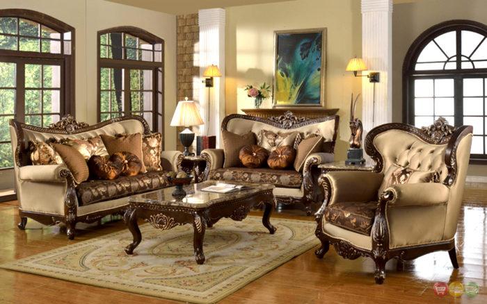 غرفة عيشة كلاسيكية فخمة جداً وشيك تناسب الذوق الراقي