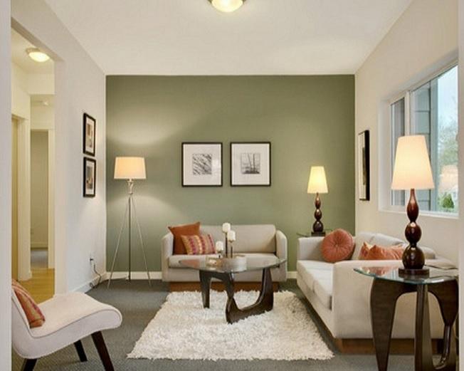 غرفة جلوس صغيرة الحجم رائعة وهادئ