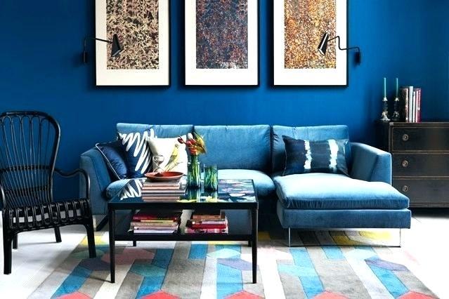 غرفة معيشة باللون الازرق روعة وشيك