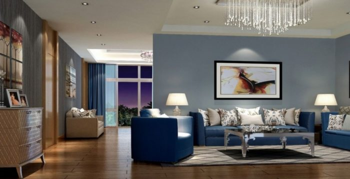 Wonderful Royal Blue Living Room Living Comely Blue And Gray Living Room Exotic Decorating Blue