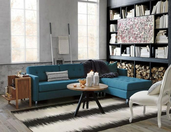 غرفة معيشة صغيرة بتصميم اكثر من رائع
