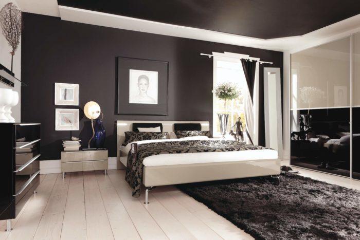 غرفة نوم أبيض فى أسود بتصميم فى منتهى الجمال