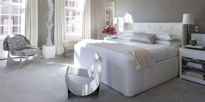 غرفة نوم باللون الابيض قمة فى الجمال والروعة والشياكة