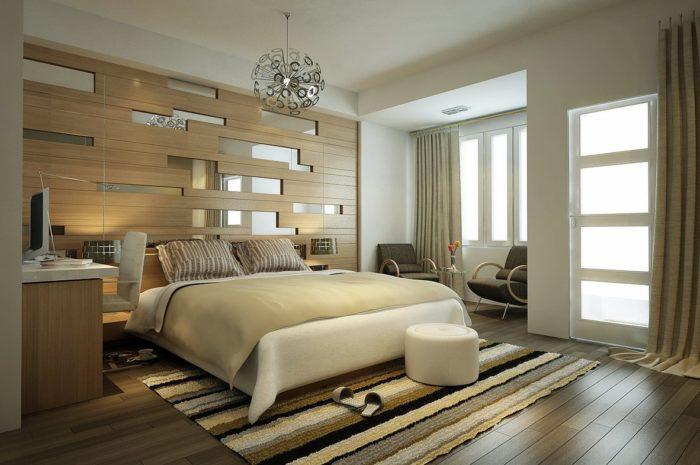 غرفة نوم باللون البيج بتصميم حلو جداً و شيك