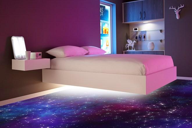 غرفة نوم بتصميم فى منتهى الجمال