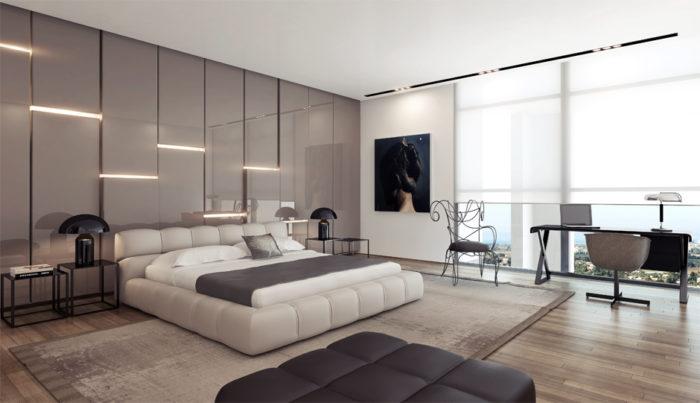 غرفة نوم بتصميم مودرن جديد 2018