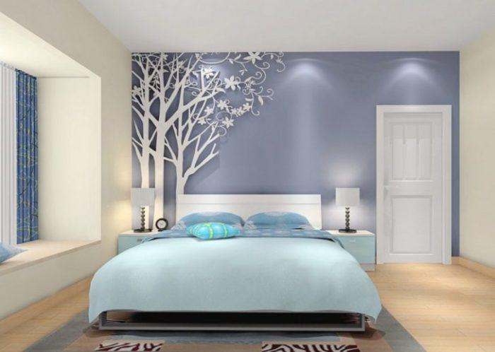 غرفة نوم ثري دي ناعمة جداً هادئة باللون اللبني