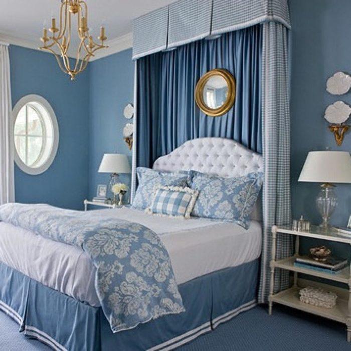 غرفة نوم جميلة جداً باللون الازرق