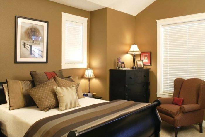 غرفة نوم جميلة جداً وشيك باللون الكافيه