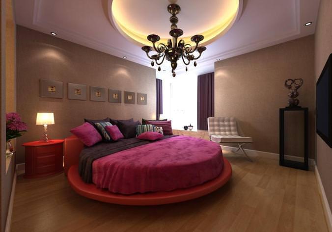 غرفة نوم دائرية رائعة وشيك جداً