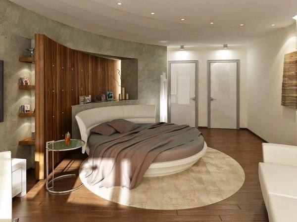 غرفة نوم دائرية فى منتهى الجمال والروعة والشياكة