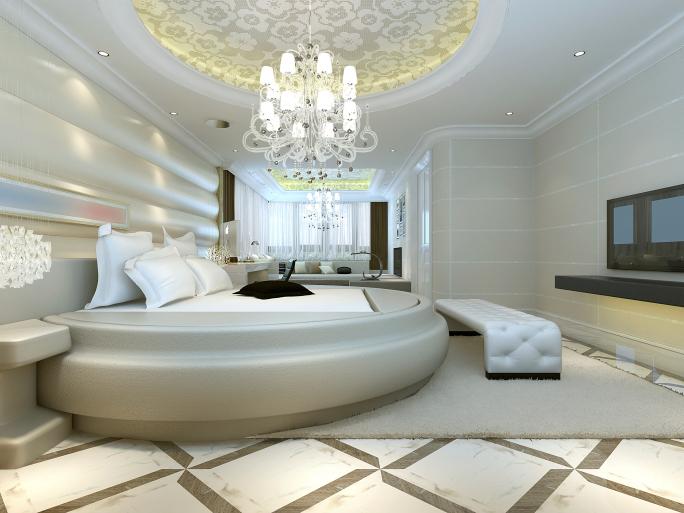 غرفة نوم رائعة وتناسب الذوق الهادئ