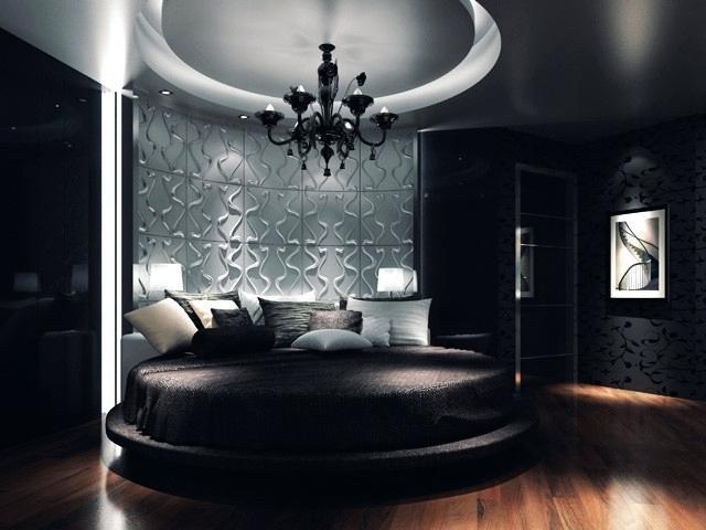غرفة نوم سوداء ثري دي حلوة جداً و رائعة
